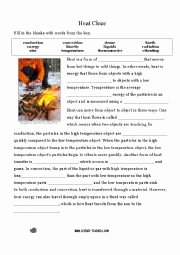 Heat Transfer Worksheet Answers Beautiful English Worksheets Heat Transfer Cloze Activity