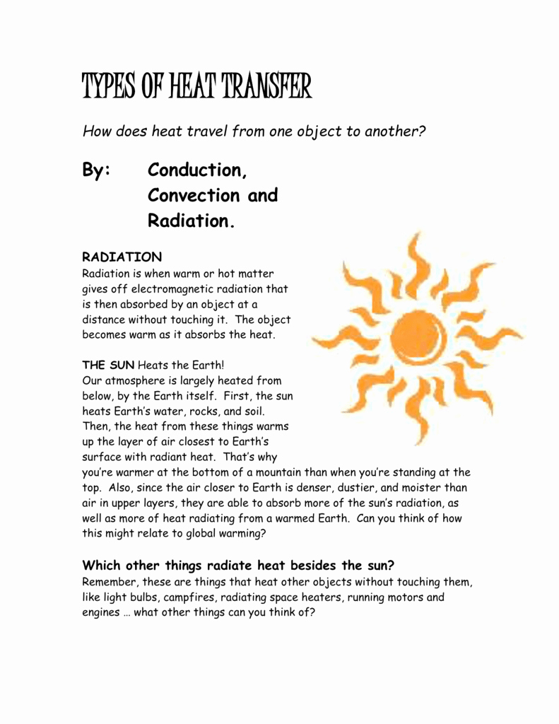 Heat Transfer Worksheet Answers Beautiful Worksheet Worksheet Methods Heat Transfer Answers