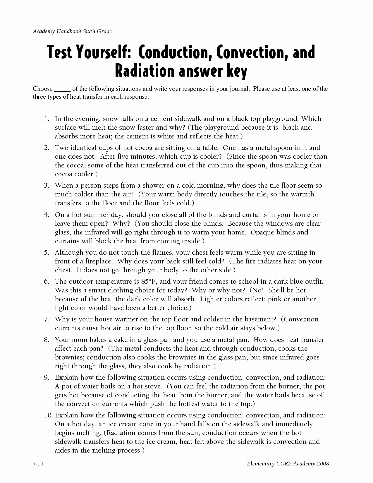 Heat Transfer Worksheet Answers Fresh 13 Best Of Conduction Convection and Radiation