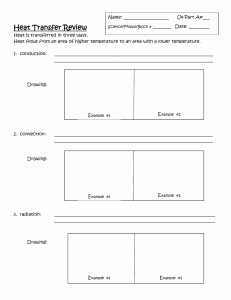 Heat Transfer Worksheet Answers Luxury Methods Of Heat Transfer Worksheet