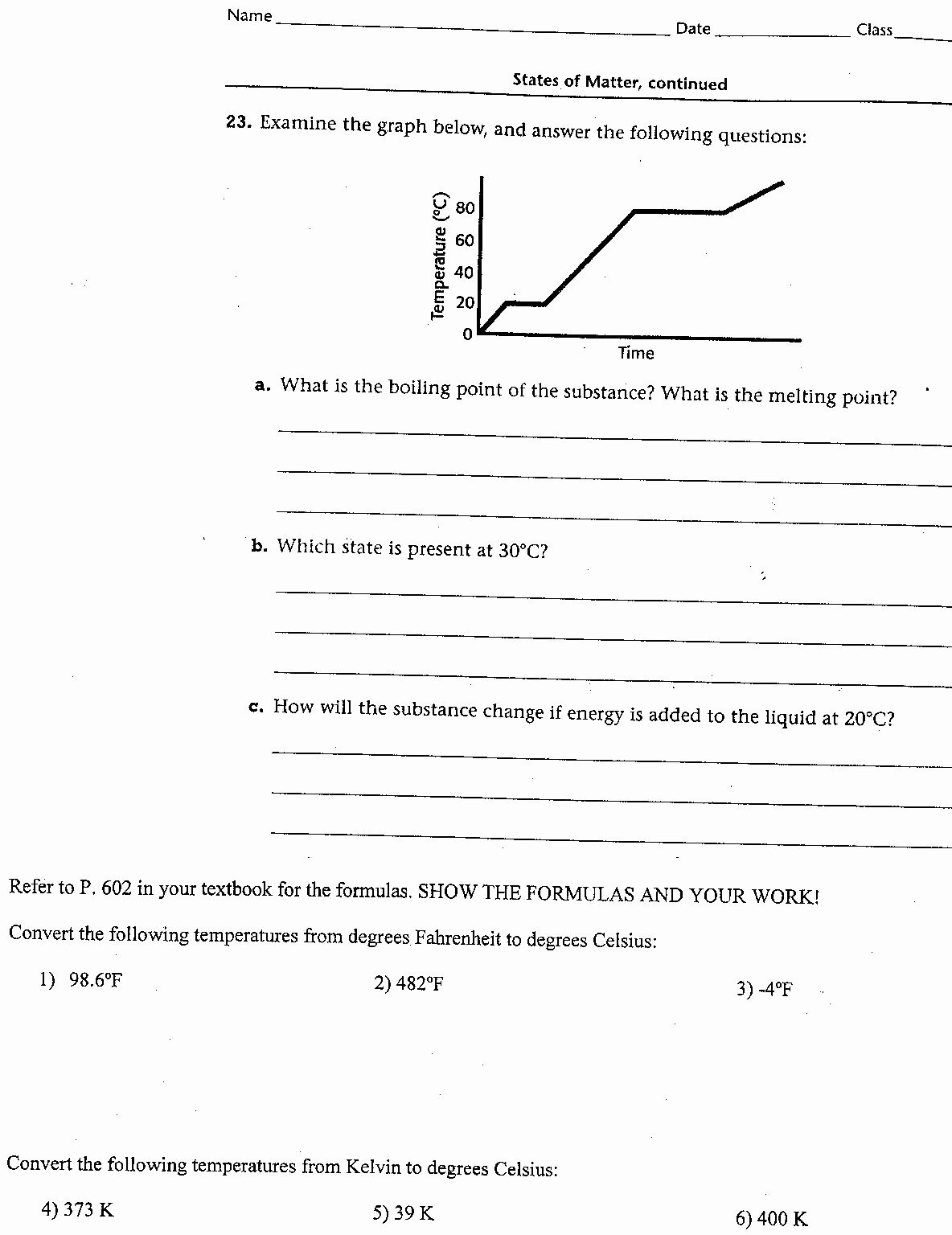 Heating and Cooling Curve Worksheet Lovely Heating and Cooling Curves Worksheet