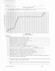 Heating and Cooling Curve Worksheet Lovely Heating and Cooling Curves Worksheet with Key Ola