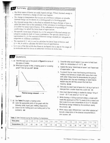 Heating and Cooling Curve Worksheet Unique Chemistry Heating Curve Worksheet Cast