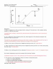 Heating and Cooling Curves Worksheet Best Of Heatingcurveworksheet Keyc Heating Curve Worksheet