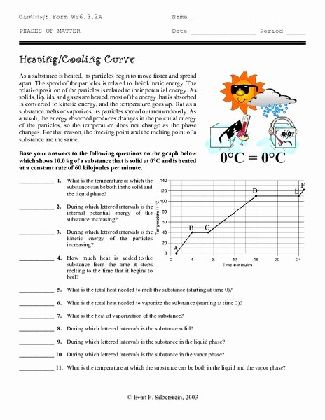 Heating and Cooling Curves Worksheet Lovely Heating Heating Curve Worksheet
