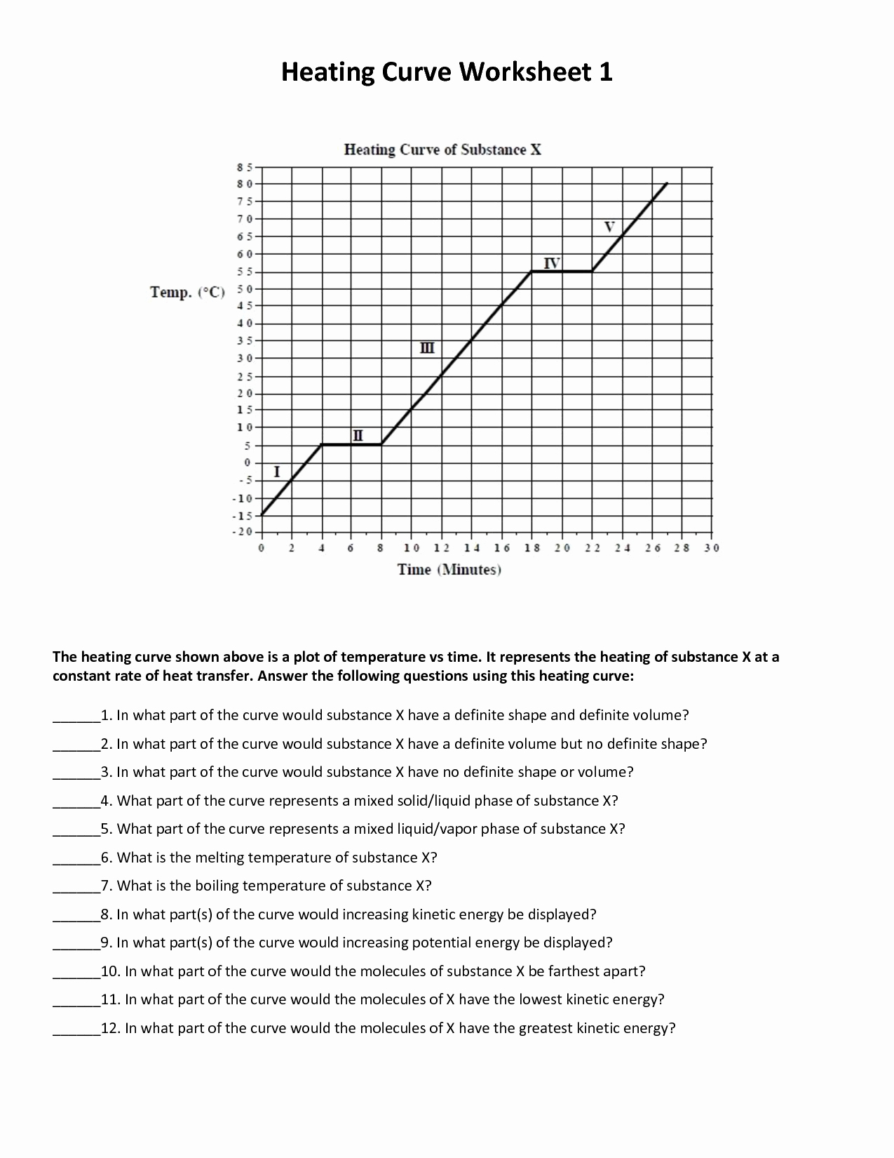 Heating Curve Worksheet Answers Luxury 1st Quarter Robert E Lee Chemistry