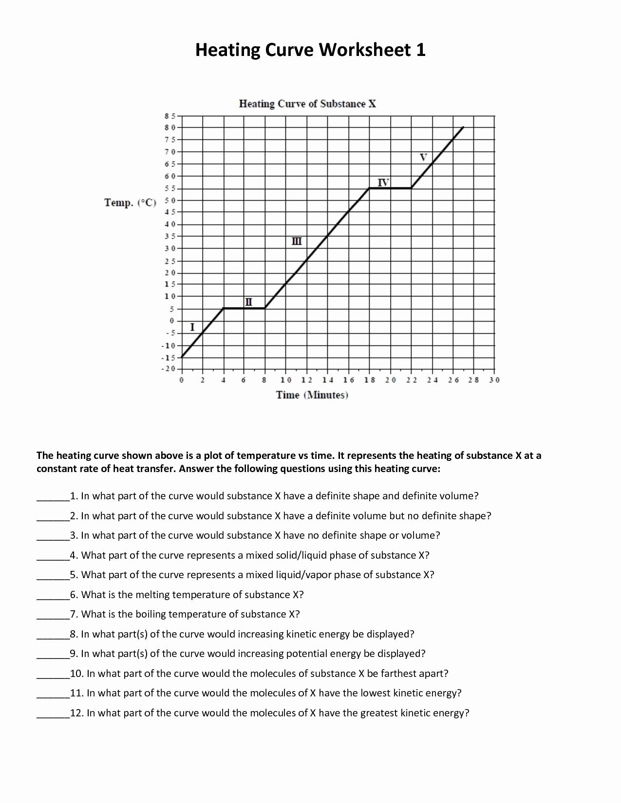 Heating Curve Worksheet Answers Luxury 1st Quarter Robert E Lee Chemistry