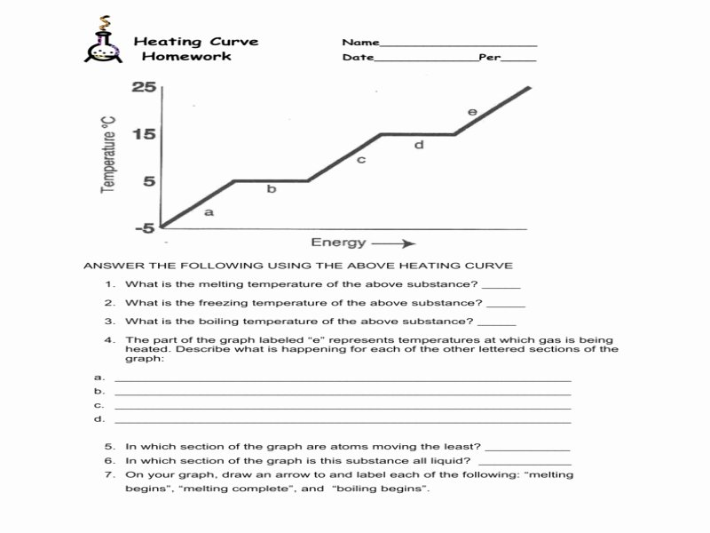 Heating Curve Worksheet Answers Luxury Chemistry Heating Curve Worksheet Free Printable Worksheets