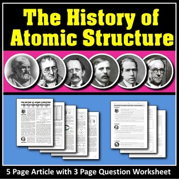 History Of the atom Worksheet Luxury atomic Structure & the History Of atomic Structure