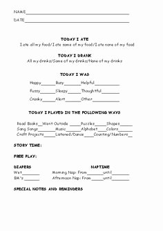 Home Daycare Tax Worksheet Elegant 12 Best Infant toddler & Preschool Daily Report Templates