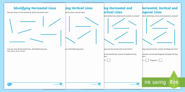Horizontal and Vertical Lines Worksheet Best Of Identifying Horizontal and Vertical Lines Worksheet