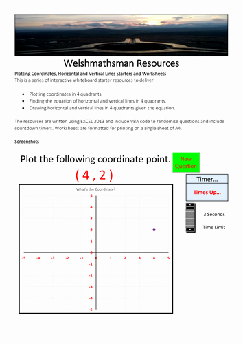 Horizontal and Vertical Lines Worksheet Elegant Coordinates and Vertical Lines Starter and Worksheets Free