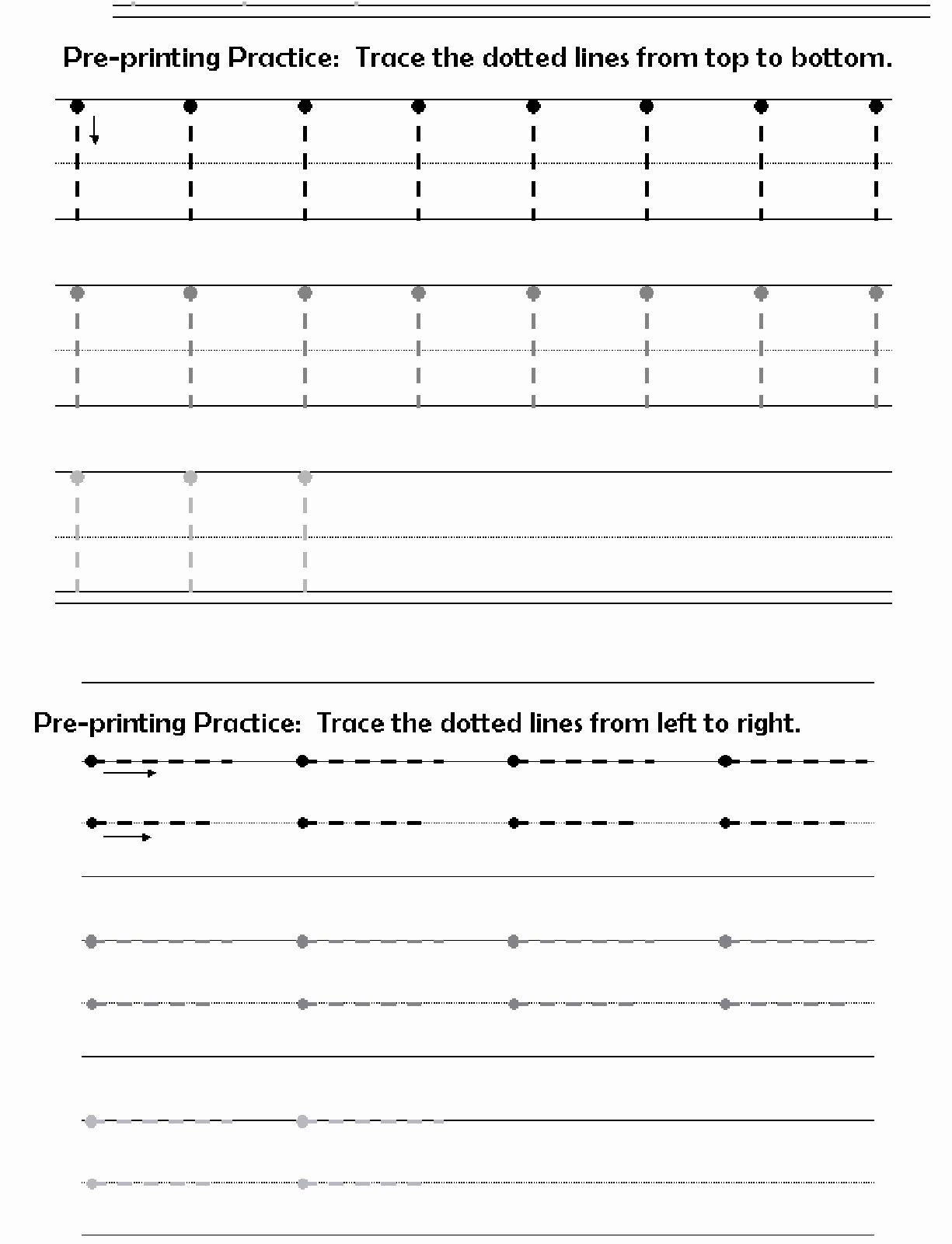 Horizontal and Vertical Lines Worksheet Fresh before Printing Letters Lines Circles Zig Zags