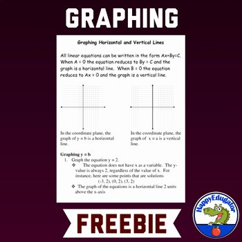 Horizontal and Vertical Lines Worksheet Fresh Free Graphing Horizontal and Vertical Lines Worksheet by