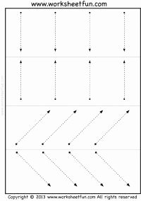Horizontal and Vertical Lines Worksheet Fresh Line Tracing – Vertical Horizontal and Slanted – 3