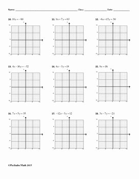 Horizontal and Vertical Lines Worksheet Inspirational Graphing Linear Equations In Standard form Algebra