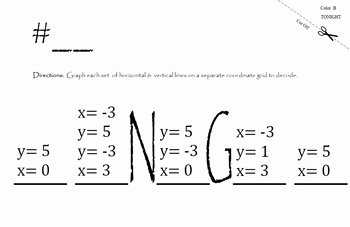 Horizontal and Vertical Lines Worksheet Inspirational Horizontal & Vertical Lines Graph & Write Equations