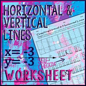 Horizontal and Vertical Lines Worksheet Lovely Graphing Horizontal & Vertical Lines Winter themed