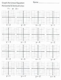Horizontal and Vertical Lines Worksheet Lovely Writing Linear Equations Horizontal and Vertical Lines
