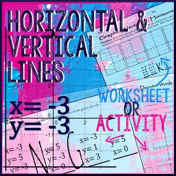 Horizontal and Vertical Lines Worksheet Luxury Horizontal & Vertical Lines Graph & Write Equations