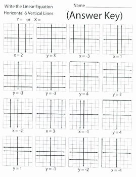Horizontal and Vertical Lines Worksheet New Writing Linear Equations Horizontal and Vertical Lines
