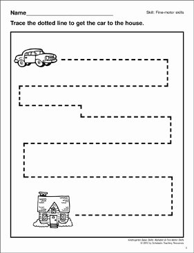 Horizontal and Vertical Lines Worksheet Unique Tracing Horizontal and Vertical Lines Car Fine Motor