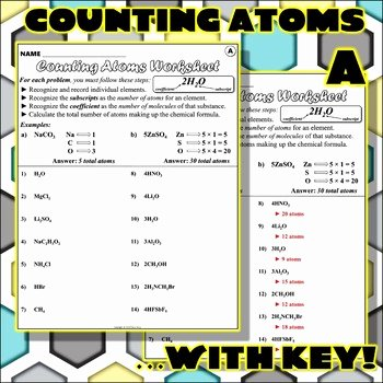 How to Count atoms Worksheet Elegant Worksheet Counting atoms V by Travis Terry