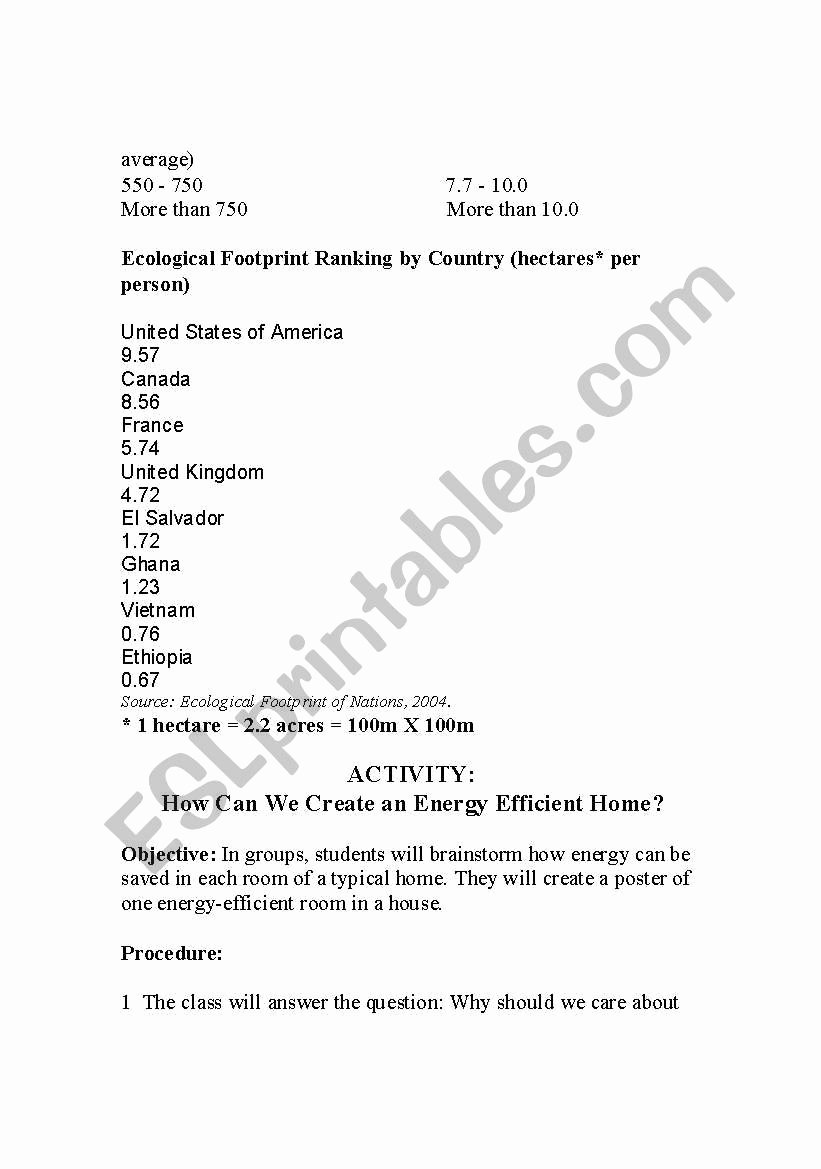 Human Footprint Worksheet Answers Elegant Ecological Footprint Worksheet Answers – Festival Collections