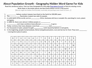 Human Population Growth Worksheet Answer Inspirational Population Growth Worksheet Free to Download Printable