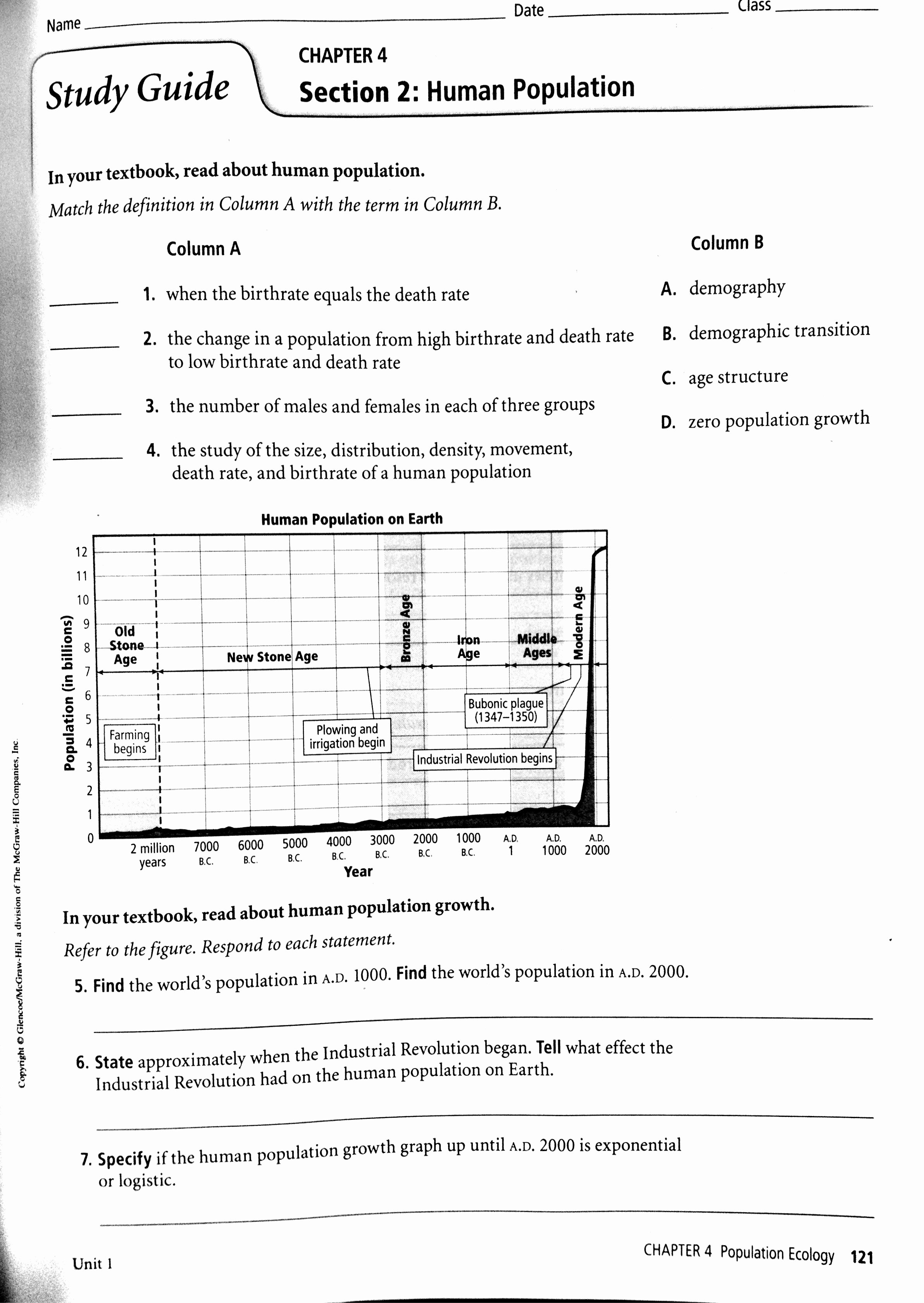 Human Population Growth Worksheet Fresh October 2013
