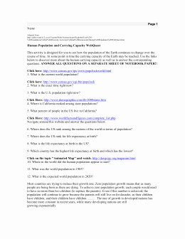 Human Population Growth Worksheet Lovely Human Population Webquest