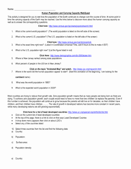 Human Population Growth Worksheet Luxury Human Population Growth Webquest