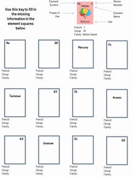 Hunting the Elements Worksheet Answers New Get to Know the Elements A Periodic Table In