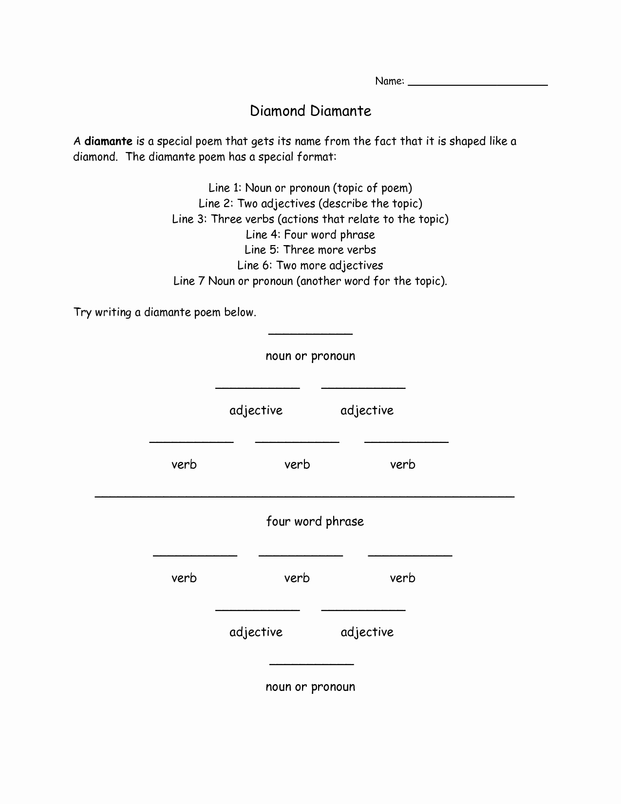 I Am Poem Worksheet Best Of 19 Best Of sonnet Outline Worksheet Examples Of I