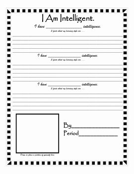 I Am Poem Worksheet Lovely Multiple Intelligence Learning Strength I Am Poem Activity