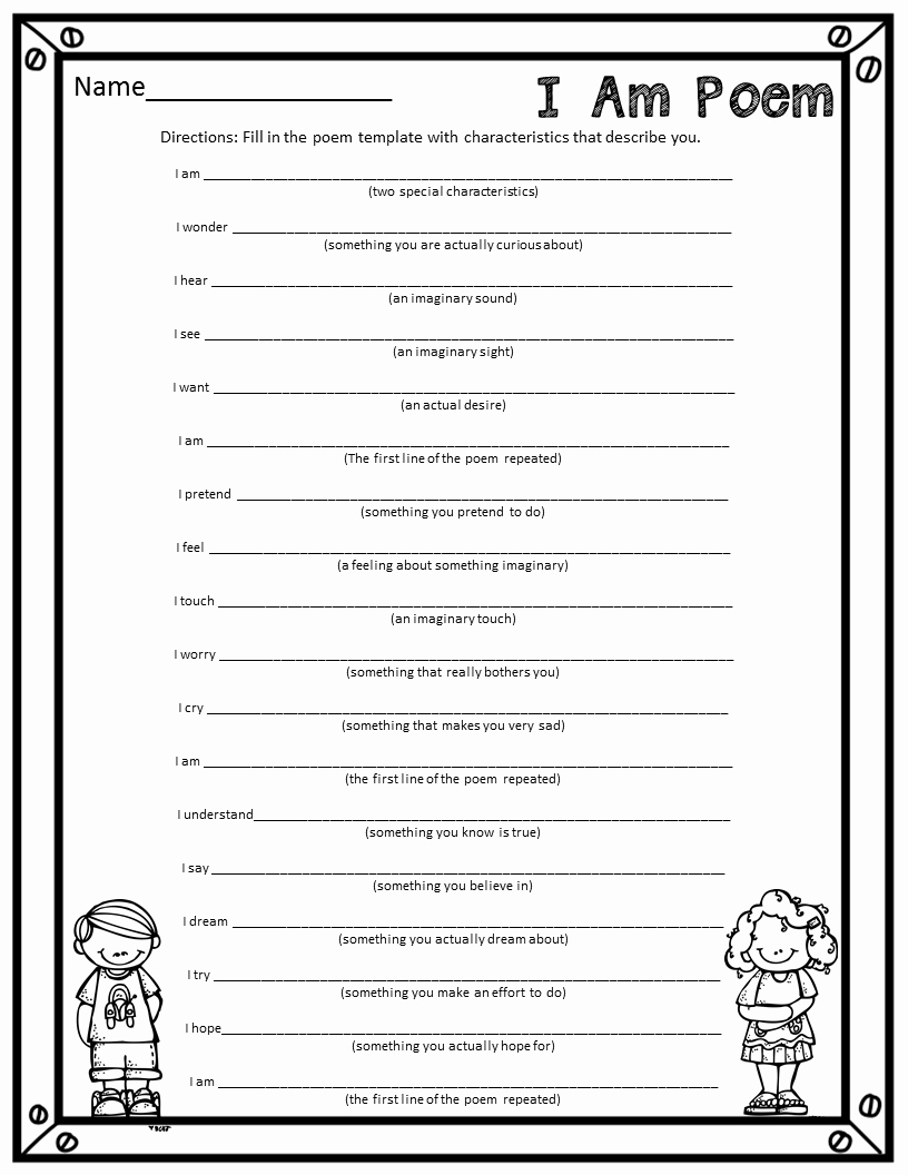 I Am Poem Worksheet Lovely who S who and who S New I Am Poems A Fun End Of the Year