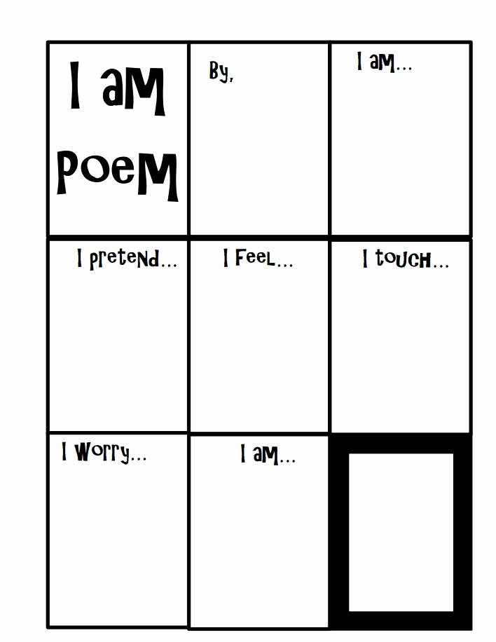 I Am Poem Worksheet New I Am Poem Page 2 Pdf My 3rd Grade Classroom
