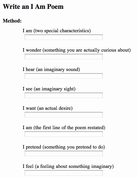 "I Am Poem Worksheet New ""i Am"" Poem Love the Idea Of Having Students Write An ""i"