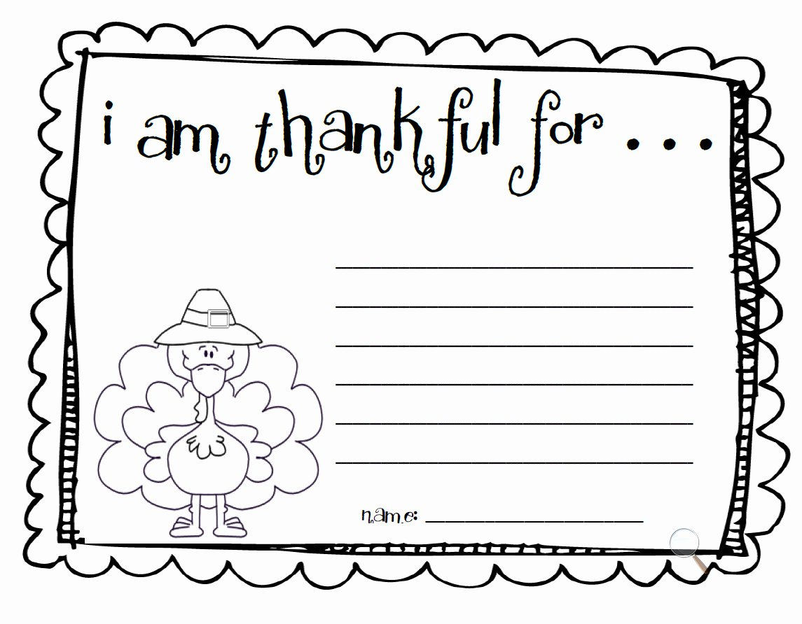 "I Am Thankful for Worksheet Awesome Fun for First Make An ""i Am Thankful"" List"