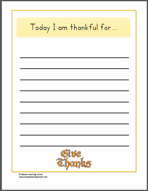 I Am Thankful for Worksheet Awesome Writing Thankful Pages Mamas Learning Corner