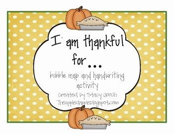 I Am Thankful for Worksheet Beautiful I Am Thankful for Writing Activity Freebie by Stacygooch