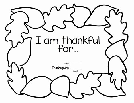 I Am Thankful for Worksheet Best Of Give Thanks with these Printable Thankful Placemats