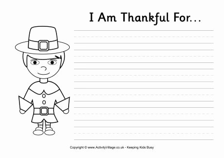 I Am Thankful for Worksheet Best Of I Am Thankful for