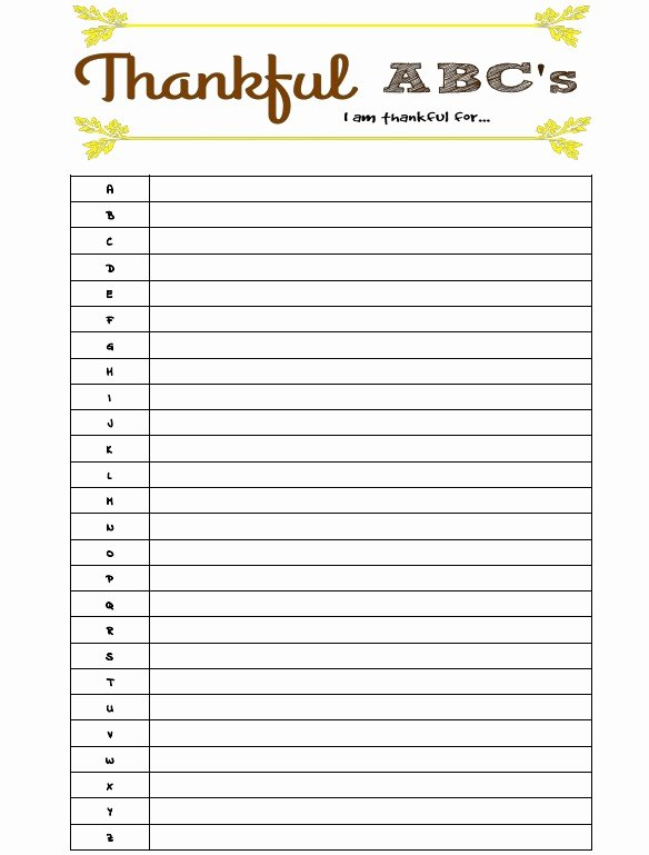I Am Thankful for Worksheet Best Of Thankful Abc S Free Printable Building Our Story