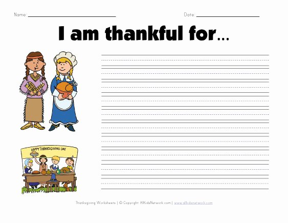 I Am Thankful for Worksheet Best Of What are You Thankful for Worksheet