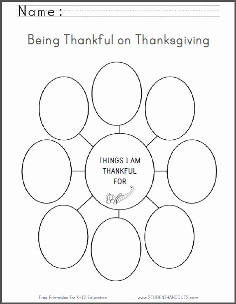 I Am Thankful for Worksheet Fresh Things I Am Thankful for Free Printable Thanksgiving