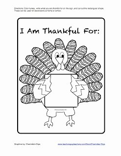 I Am Thankful for Worksheet Inspirational Classroom Freebies too I Am Thankful for Printable