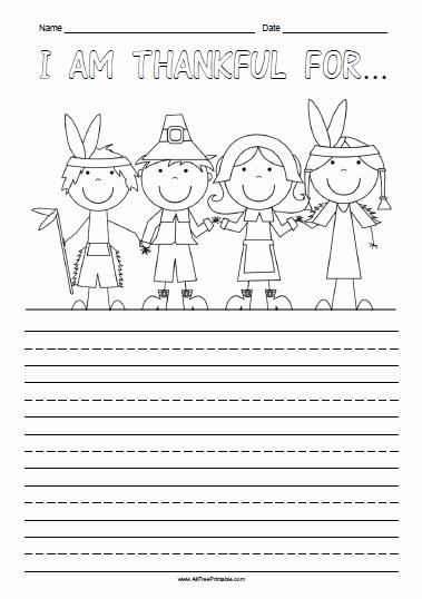 I Am Thankful for Worksheet Inspirational I Am Thankful for Free Printable Allfreeprintable