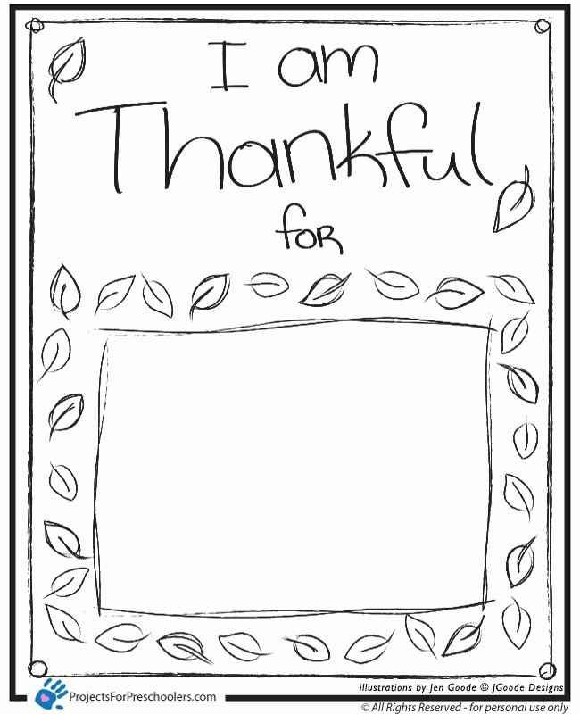 I Am Thankful for Worksheet Inspirational I Am Thankful Projects for Preschoolers