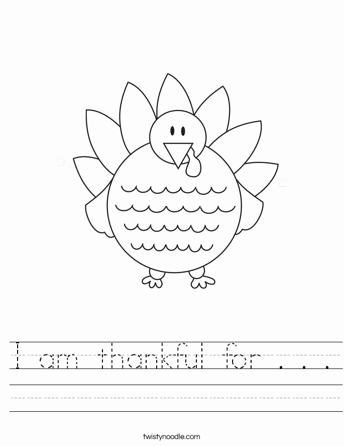 I Am Thankful for Worksheet Lovely I Am Thankful for Worksheet Twisty Noodle